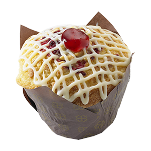 Raspberry & White Choco Muffin
